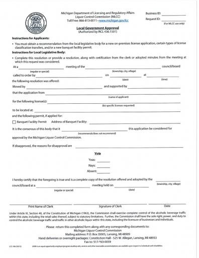 Liquor License Information